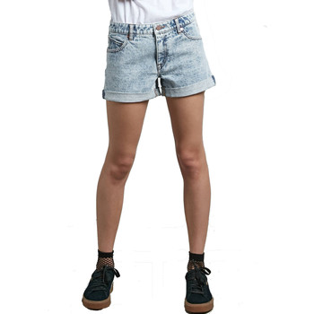 textil Mujer Shorts / Bermudas Volcom Stoned Short Rolled Cloud Blue