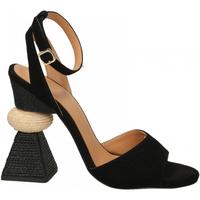 Zapatos Mujer Sandalias Paloma Barcelò KID SUEDE blk-nero