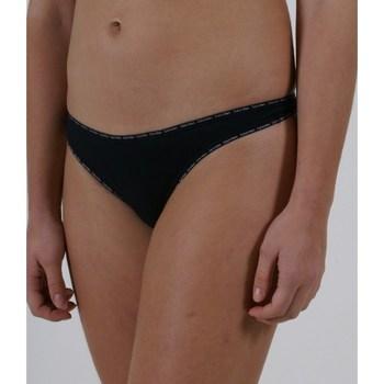 Ropa interior Mujer Tangas Calvin Klein Jeans Tanga Pack 2 F1038E Negro