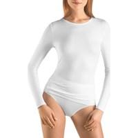 Ropa interior Mujer Camiseta interior Hanro Camiseta Manga Larga 1259  Mujer Blanco