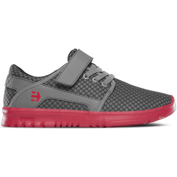 Zapatos Niños Zapatos de skate Etnies Kids Scout V Grey/red