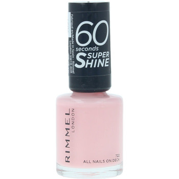 Belleza Mujer Esmalte para uñas Rimmel London 60 Seconds Super Shine 722-all Nails On Deck