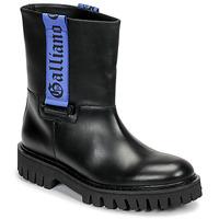 Zapatos Hombre Botas de caña baja John Galliano 8560 Negro / Azul