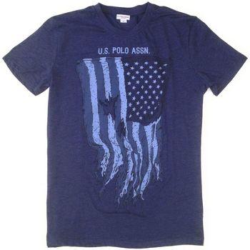 textil Hombre Camisetas manga corta U.S Polo Assn. USA FLAG AZUL