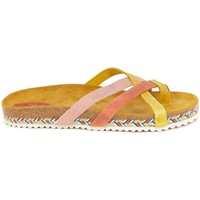 Zapatos Mujer Zuecos (Mules) Interbios 7113 SALMON-MOSTAZA ROSA