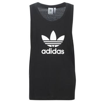 textil Hombre camisetas sin mangas adidas Originals TREFOIL TANK Negro