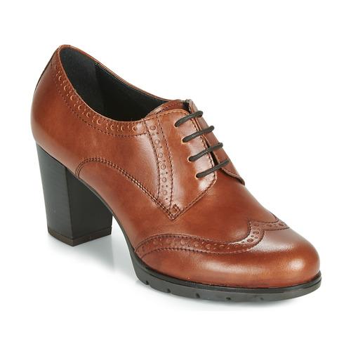André MAESTRO Cognac - Envío gratis | ! - Zapatos Derbie Mujer