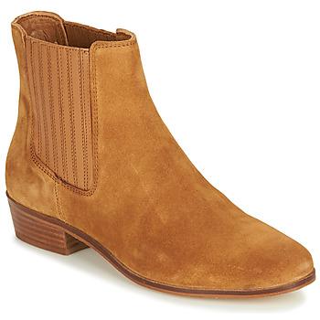 Zapatos Mujer Botas de caña baja André ECUME Camel
