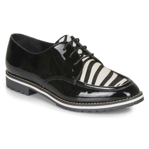 André CHARLELIE Negro / Estampado - Envío gratis   ! - Zapatos Derbie Mujer