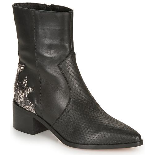 André LA ROCKABILLY Negro - Envío gratis | ! - Zapatos Botines Mujer