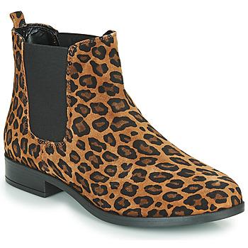 Zapatos Mujer Botas de caña baja André ELEGANTE Leopardo