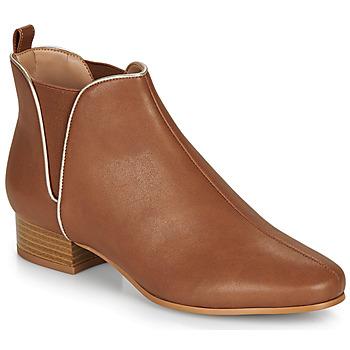 Zapatos Mujer Botas de caña baja André VERVEINE Camel