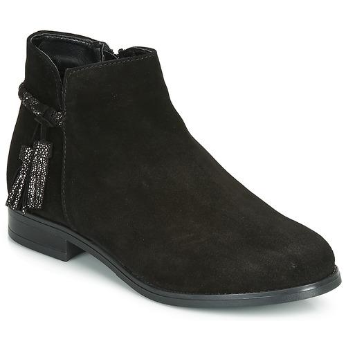 André MILOU Negro - Envío gratis | ! - Zapatos Botas de caña baja Mujer