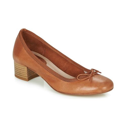 André POEME Camel - Envío gratis | ! - Zapatos Bailarinas Mujer