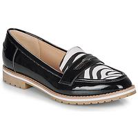 Zapatos Mujer Mocasín André PORTLAND Negro / Estampado