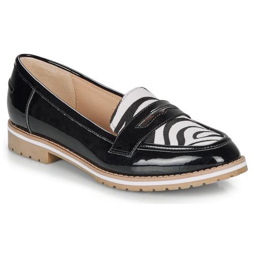 André PORTLAND Negro / Estampado - Envío gratis | ! - Zapatos Mocasín Mujer