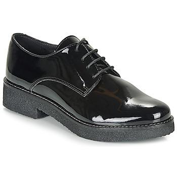 Zapatos Mujer Derbie André NANEL Negro / Barniz