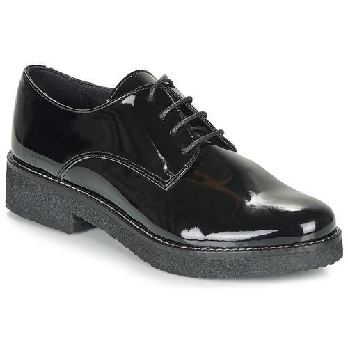 André NANEL Negro / Barniz - Envío gratis   ! - Zapatos Derbie Mujer