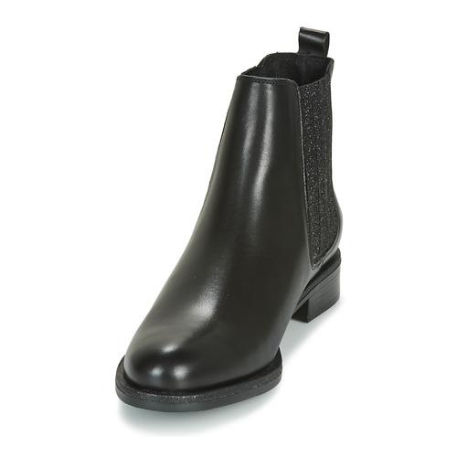André LETKISS Negro - Envío gratis    ! - Zapatos Botas de caña baja Mujer