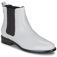 Zapatos Mujer Botas de caña baja André CARAMEL Blanco