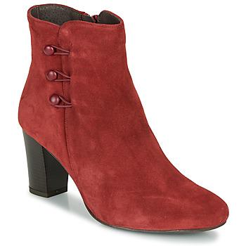 Zapatos Mujer Botas de caña baja André MAJESTEE Rojo