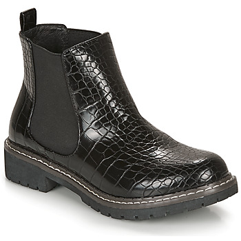 Zapatos Mujer Botas de caña baja André NOVA Negro / Estampado