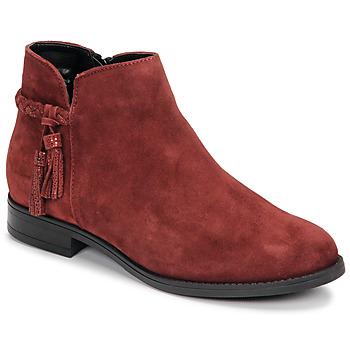 Zapatos Mujer Botas de caña baja André MILOU Rojo