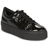 Zapatos Mujer Zapatillas bajas André SODA Negro / Barniz