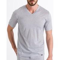 textil Hombre camisetas manga corta Hanro Camiseta Sporty Stripe 074083  Hombre MelangeStripe