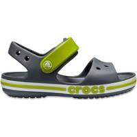 Zapatos Niños Sandalias Crocs™ Crocs™ Bayaband Sandal Kid's Charcoal