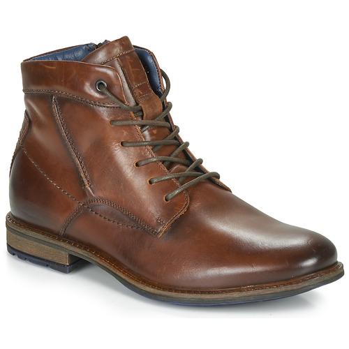 André CHIROS Marrón - Envío gratis | ! - Zapatos Botas de caña baja Hombre