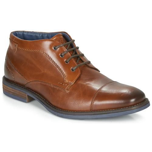 André BARTHUS Cognac - Envío gratis | ! - Zapatos Botas de caña baja Hombre