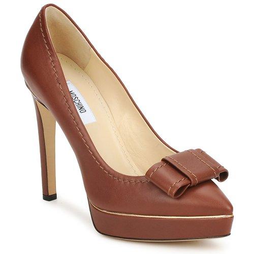 Zapatos Mujer Zapatos de tacón Moschino MA1009 Tabaco