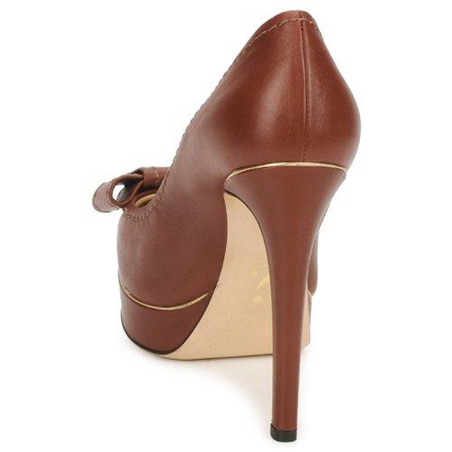 De Moschino Ma1009 Tacón Mujer Tabaco Zapatos UzpVqSM