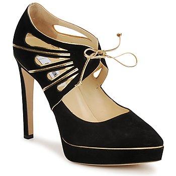 Zapatos Mujer Zapatos de tacón Moschino MA1004 Nero-oro