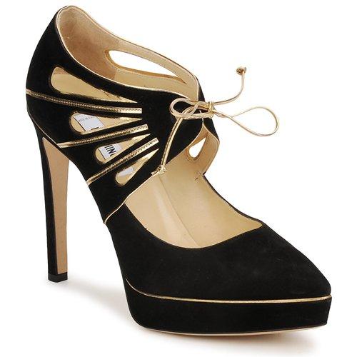 Zapatos promocionales Moschino MA1004 Nero-oro  Descuento de la marca