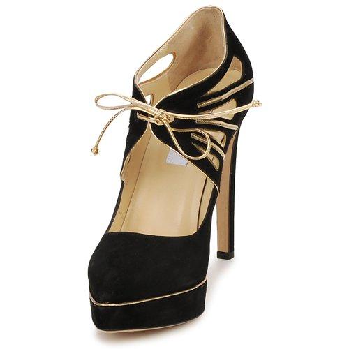 De Tacón Moschino oro Ma1004 Nero Mujer Zapatos CxtsQhdr