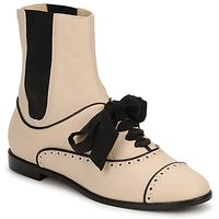 Zapatos Mujer Botas de caña baja Moschino MA2103 Beige