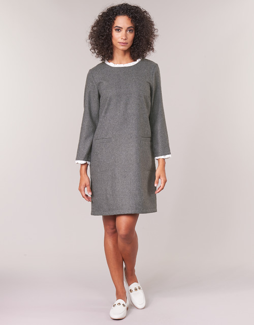 Textil Vestidos Labama Betty Cortos London Mujer Gris jL354ARq