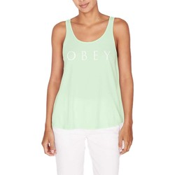 textil Mujer camisetas sin mangas Obey CANOTTA VERDE Negro