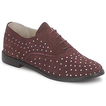 Zapatos Mujer Richelieu Meline DERMION BIS Burdeo