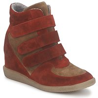 Zapatos Mujer Zapatillas altas Meline IMTEK BIS Marrón / Rojo