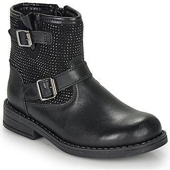 Zapatos Niña Botas de caña baja André CYDRINE Negro
