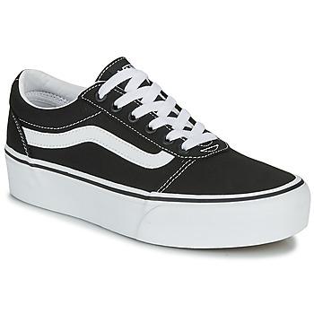 Zapatos Mujer Zapatillas bajas Vans WARD PLATFORM Negro