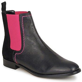 Zapatos Mujer Botas de caña baja Moschino Cheap & CHIC CA2112 Negro / Rosa