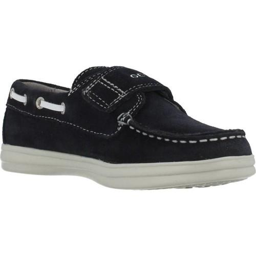 Geox J ANTHOR BOY Azul - Zapatos Mocasín Nino