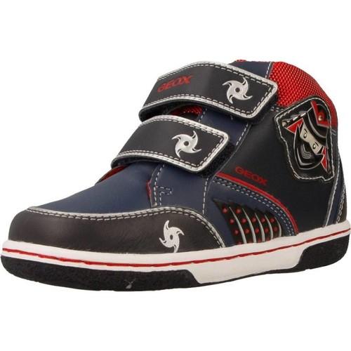 Geox B FLICK BOY Azul - Zapatos Deportivas altas Nino