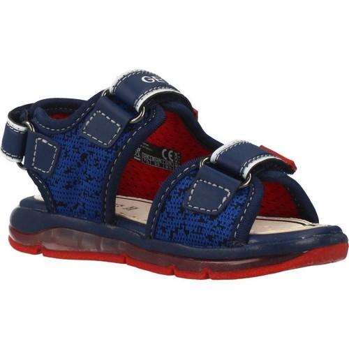 Zapatos Niño Sandalias Geox B SANDAL TODO BOY Azul