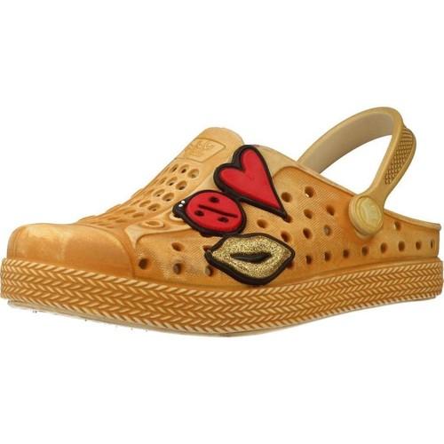 Zapatos Niña Zuecos (Clogs) Plugt BABUCHE JOY KIDS PATCHE Marron