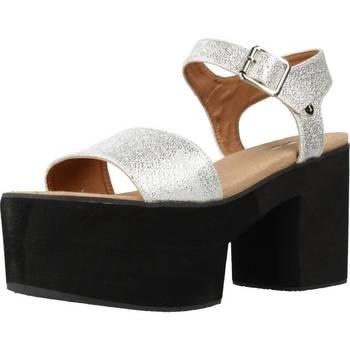 Zapatos Mujer Sandalias Different 64 8555 Plata